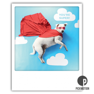 Postkarte Pickmotion, you're super Erdbeerpunkt Online Shop Schweiz
