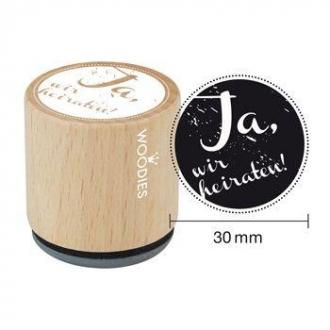 Woodies Stempel Ja Stempel Kreativ Geschenk Hochzeitskarte