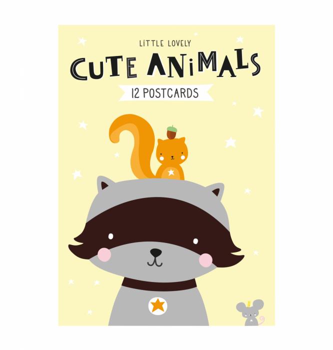 Postcard set: CUTE ANIMALS Karten, Postkarten, kleine Bilder ...