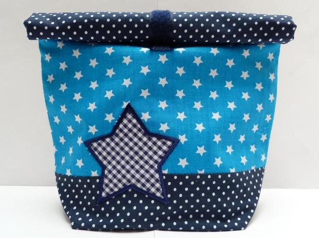 lunchbag stern blau zn nibox lunch pausenapfel zn ni t te erdbeerpunkt schweiz. Black Bedroom Furniture Sets. Home Design Ideas